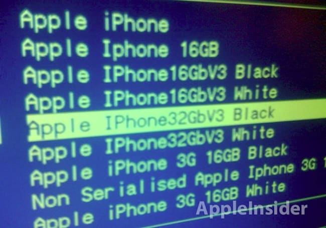 """""""iPhone V3"""" placeholders pop up in Carphone Warehouse systems -- white model coming too?"""