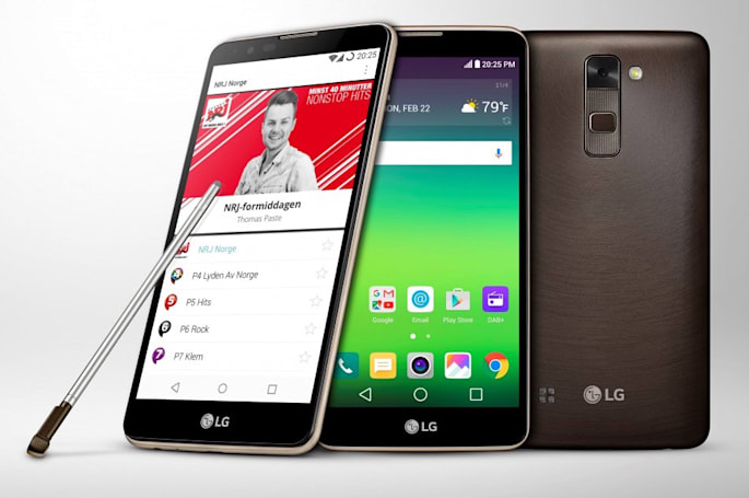 LG's Stylus 2 is the first phone to support DAB+ radio