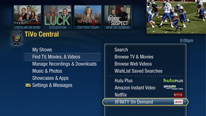 TiVo Premiere DVRs in the Bay Area get Comcast VOD starting today