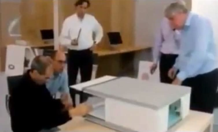 Steve Jobs in the Apple Campus 2 video