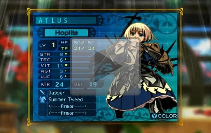 Meet the candidates for your Etrian Odyssey 3 team