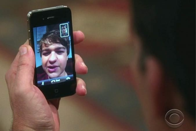 Screen Grabs: Two and a Half Men discovers FaceTime, still searching for humor
