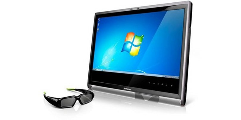 Lenovo L2363d is a 3D monitor with 3D webcam and 3D glasses (update: eyes-on)