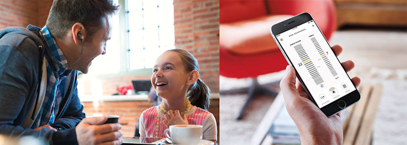 Bose Hearphones make it easy to talk in noisy places