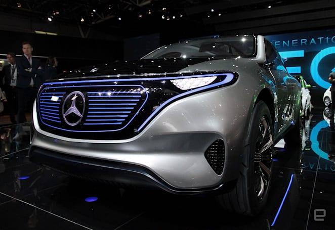VW and Mercedes open Paris Auto Show with futuristic EVs