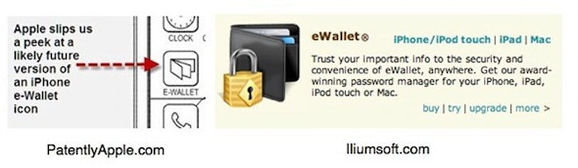 Apple patent offers peek at E-Wallet icon... or does it?