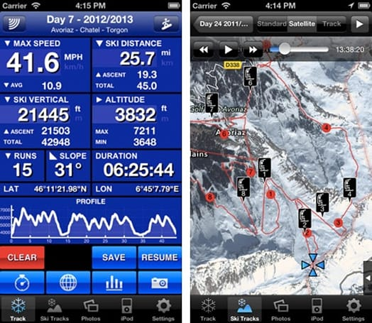 Weekend App: Ski Tracks logs your performance when you hit the slopes