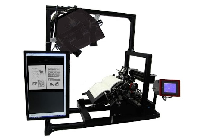 3D book scanner blows through tomes at 250 pages per minute