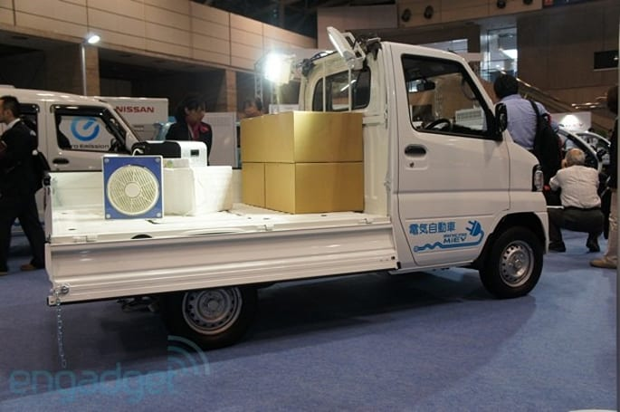 Mitsubishi unveils electric Minicab MiEV at CEATEC