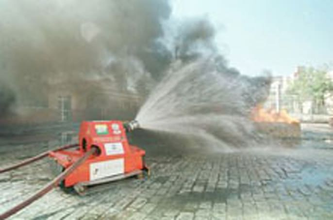 ARMTEC's SACI firefighting robot