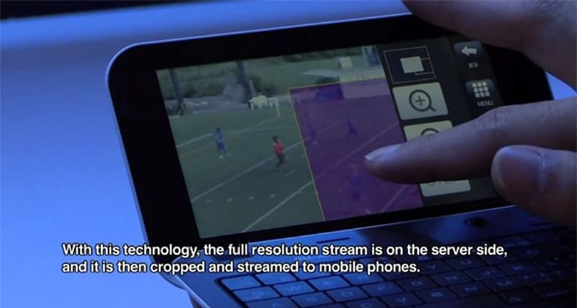 KDDI develops a zoom-enhance system for HD movie streaming on smartphones (video)