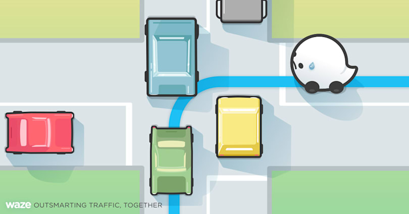 Waze will help you avoid difficult intersections