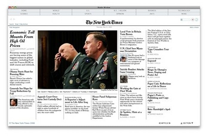 Times Reader Beta now available