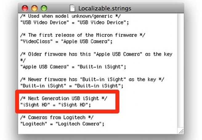 """Apple working on an """"iSight HD""""?"""