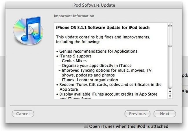 iPhone / iPod touch OS 3.1.1 is live!