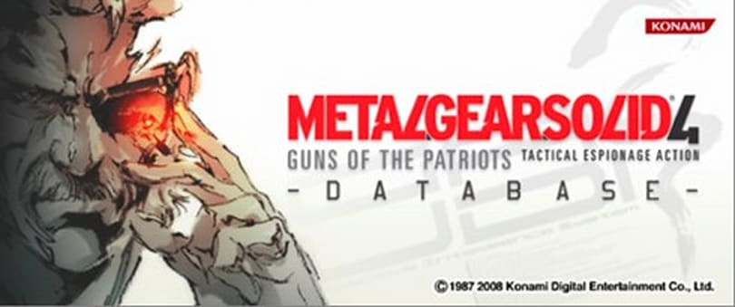 Metal Gear Solid 4 Database to educate Europe this Thursday