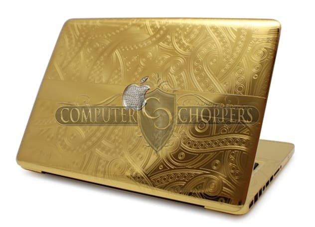 Iced out 24-carat gold MacBook Pro proves diamonds are an Apple's best friend