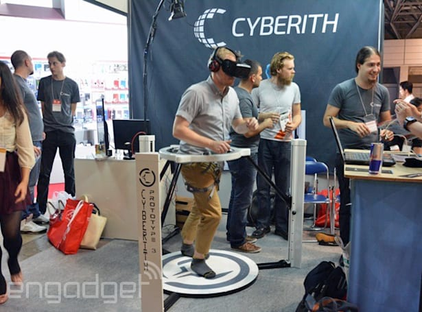 With Cyberith's Virtualizer, you can run around wearing an Oculus Rift