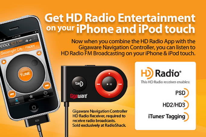 Gigaware dongle brings HD Radio to iPod touch and iPhone for $80