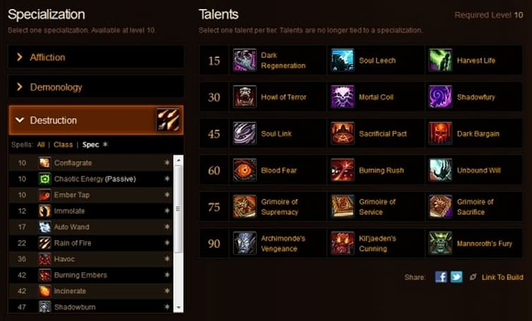 Blood Pact: MoP talent calculator spells out more changes for warlocks