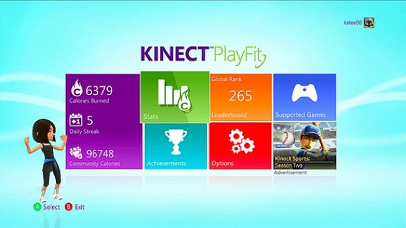 Xbox's 'Kinect PlayFit' dashboard keeps track of cross-game calorie burning