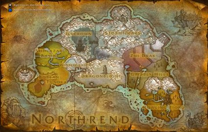 Wrath of the Lich King maps