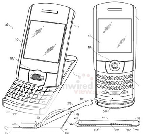 RIM patents tilt-and-slide, multitouch BlackBerrys
