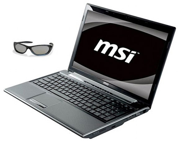 MSI intros 15.6-inch FR600 3D laptop, complete with embarrassing eyewear