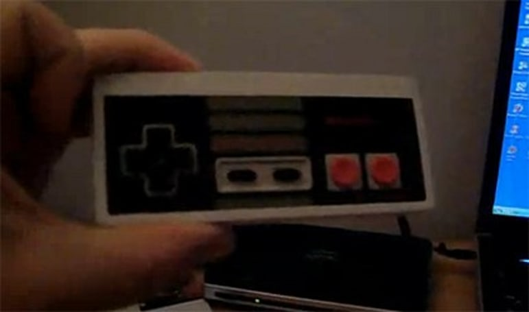 Samsung Eternity retrofitted within NES controller, has never looked better