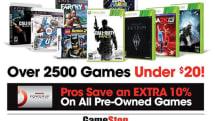 GameStop Easter Weekend sale offers 'Buy 2, Get 1 Free' on used games under $20