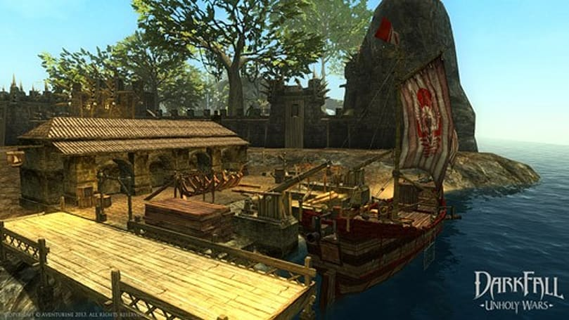 Darkfall adds shipbuilding mastery, warships, harbors, and more