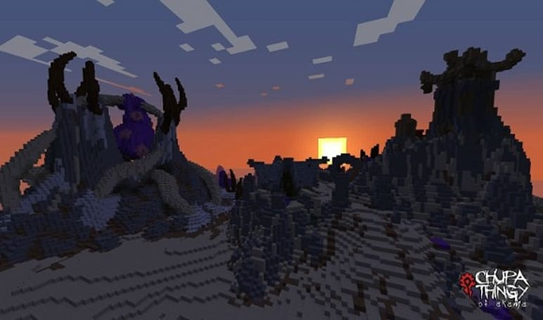 Kalimdor completely recreated in Minecraft