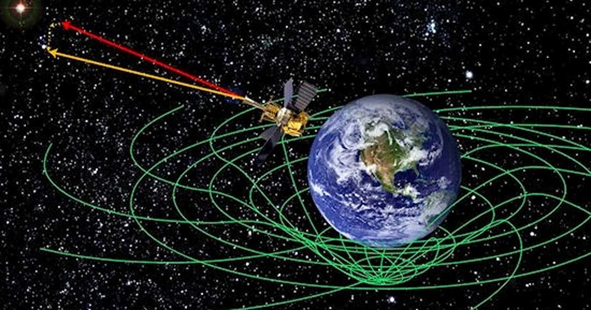 Nasa concludes gravity probe b space time experiment for Space time theory