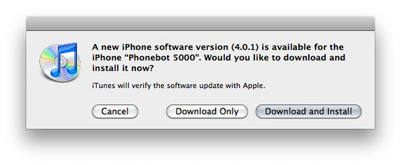 iOS 4.0.1 hitting iPhones right this second (update: 3.2.1 for iPads, too)
