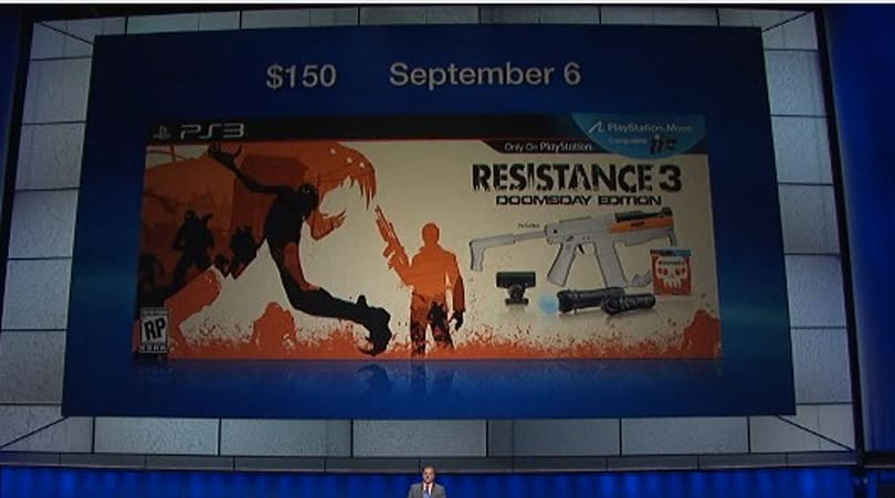 Resistance 3 'Doomsday Edition' pack launching on September 6 for $150, includes PS Move Sharp Shooter