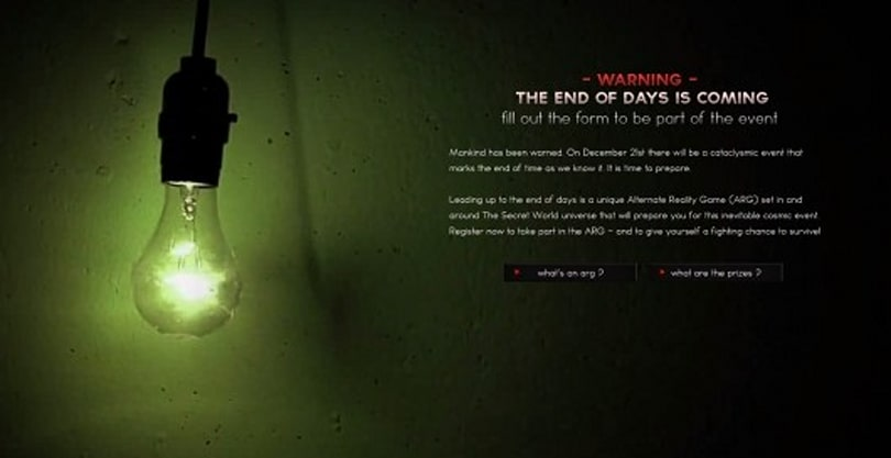 The Secret World ARG heralds the end of days