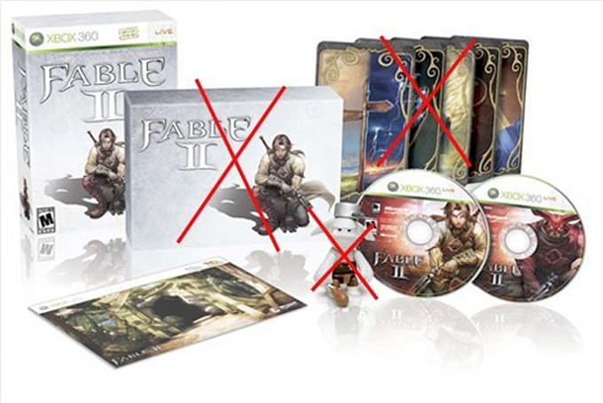 Fable 2 Collector's Edition now cheaper, less desirable