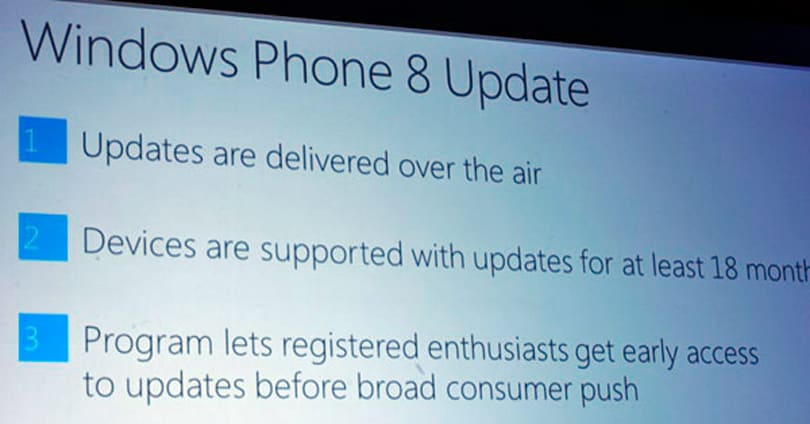 Windows Phone 8 updates coming over the air, early access to 'registered enthusiasts,' 18 month support program announced