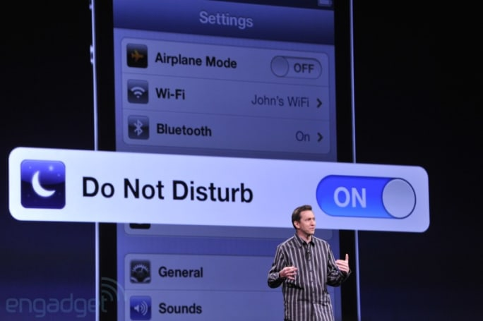 iOS 6 offers Do Not Disturb feature, adds more Zs to your slumber