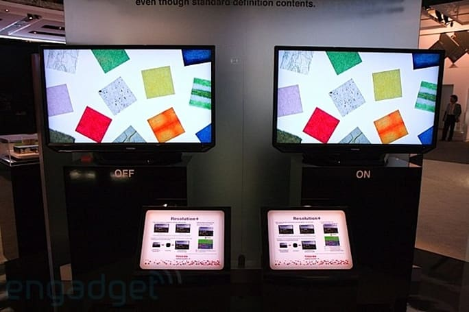 Toshiba's Resolution+ ZF LCD in the flesh