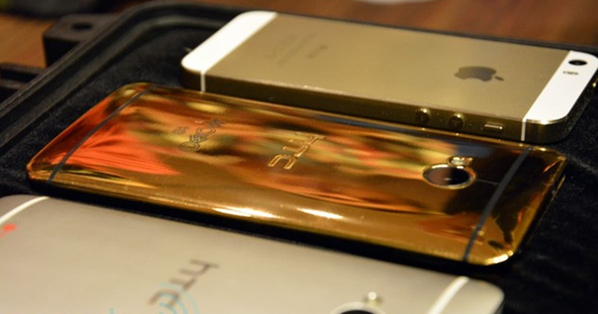 Hands-on with the 18 carat gold-plated HTC One