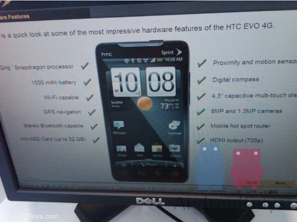 HTC EVO 4G training begins at Sprint, reveals a few surprises