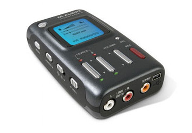 M-Audio rolls out MicroTrack II digital audio recorder