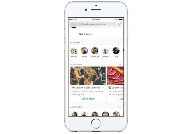 Facebook starts testing ads in Messenger