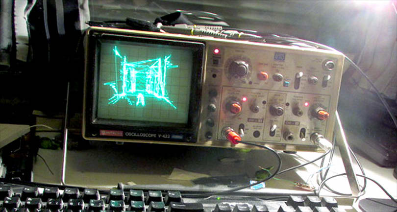Mesmerizing Quake demake runs on a decades-old oscilloscope
