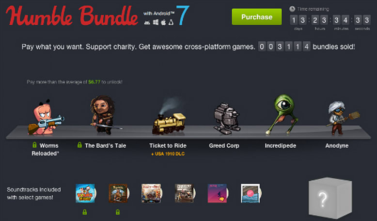 Humble Bundle with Android 7: Incredipede, Anodyne, Ticket to Ride