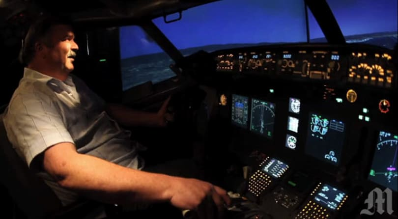 Retired Boeing 737 repurposed as garage-kept flight simulator (video)