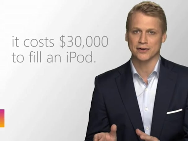 Microsoft's latest ad: iTunes and the iPod are crazy expensive