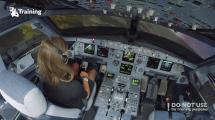 Kann eine Anfängerin einen Airbus A320 landen? (Video)