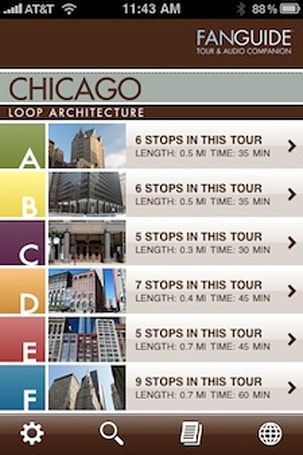 FanGuide self-guided architectural tours for iPhone